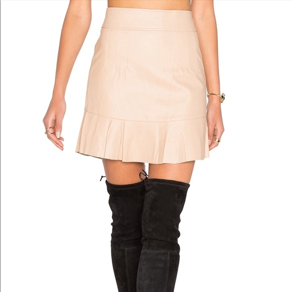 8b1bd26c7 NWT - Tan Mini Leather Skirt - Size M NWT